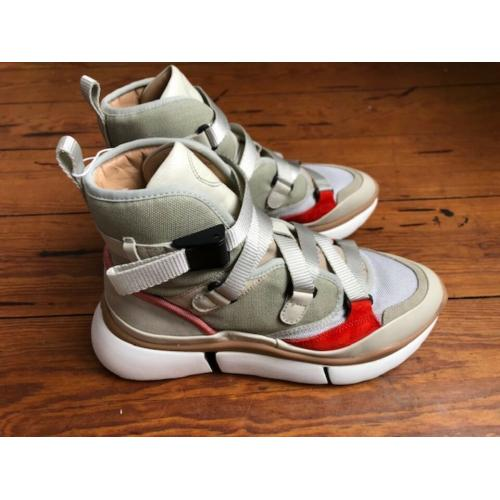 Chloe Sonnie High Top Sneaker.EU38.UK5.