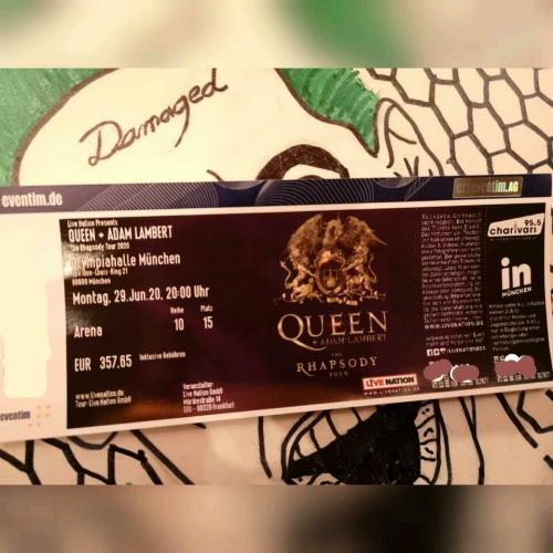 Queen + Adam Lampert 2020 Tour, München 1 Ticket